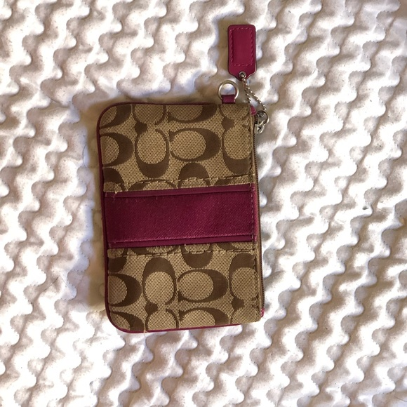 Coach small coin purse/card wallet